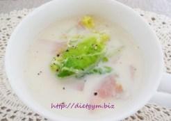 糖質制限レシピ 白菜とハムのミルク煮