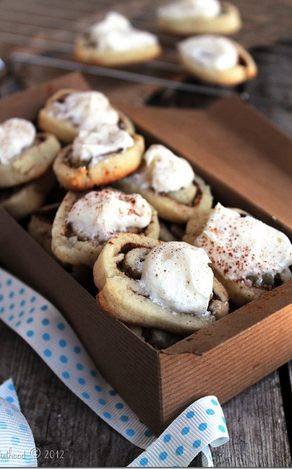 Cinnamon Roll Sugar Cookies from Diethood | Christmas Day Cinnamon Rolls