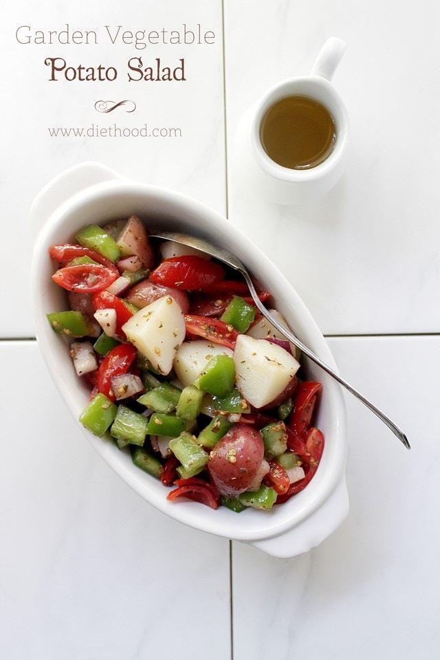 Garden Vetable Potato Salad Diethood Garden Vegetable Potato Salad