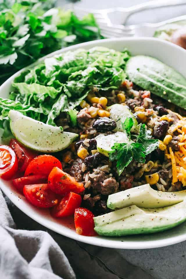 Ground Turkey Instant Pot Meals - Instant Pot Burrito Bowls Recipe - Easy Weeknight Dinner Idea