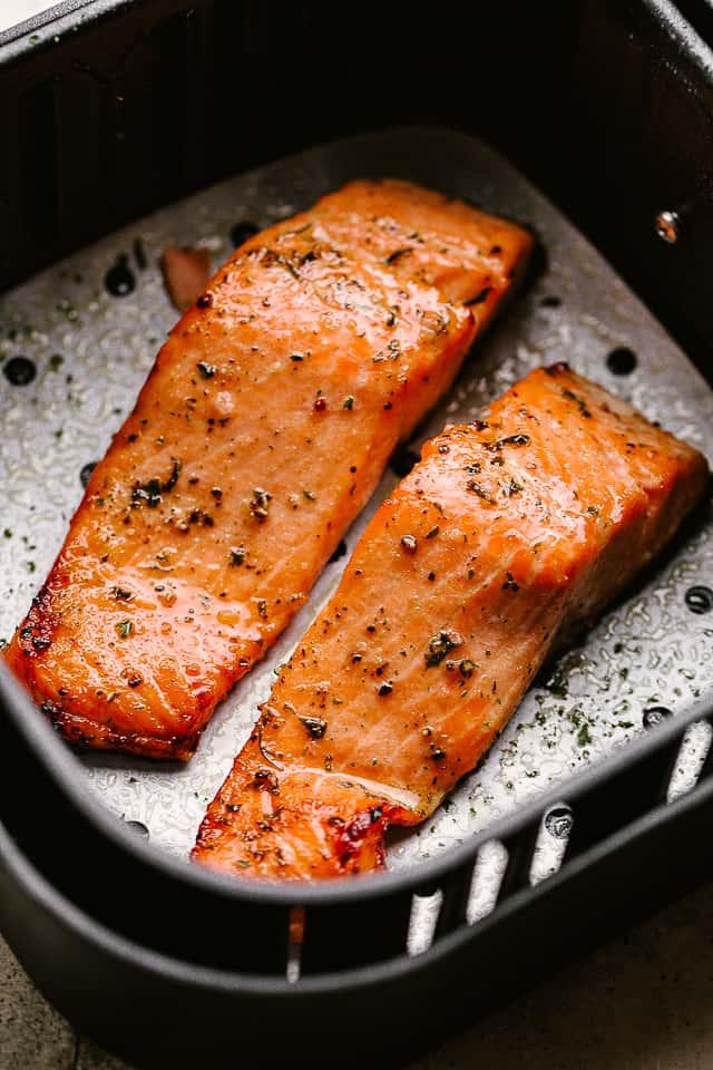 Air Fryer Salmon Bake