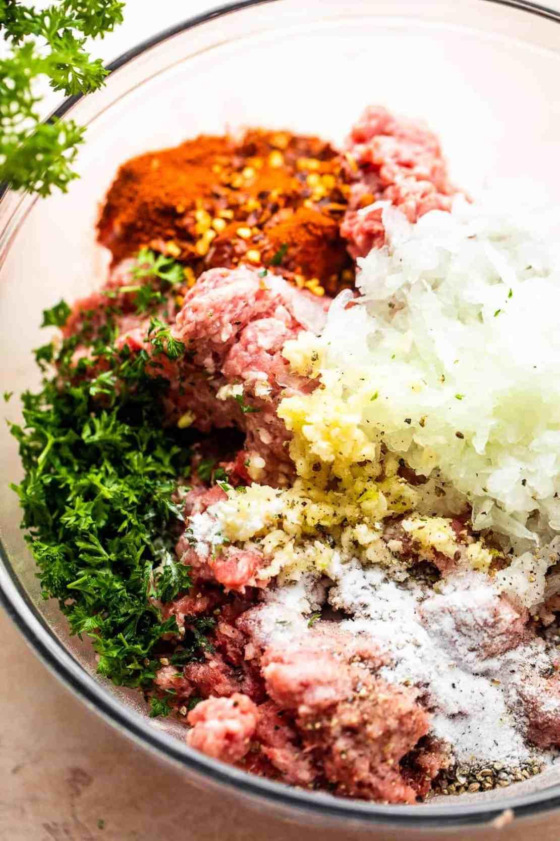 kebapi meat mixture