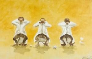 Three wise monkeys copyright Alberto Sebastiani, DES Aware Doctors wanted image