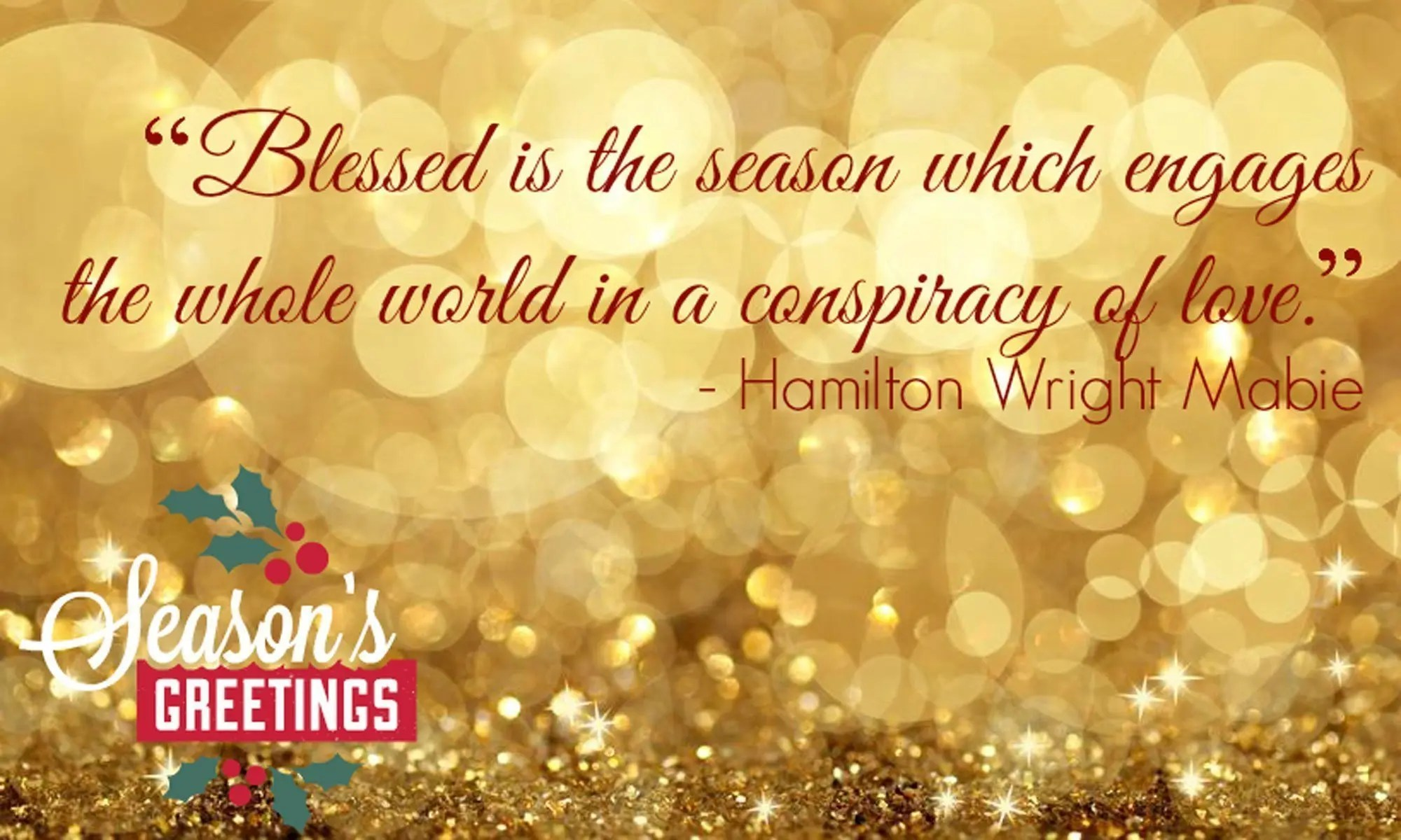 Wishing You A Healthy Holiday Season
