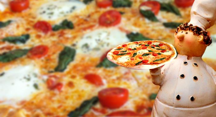 pizza con base de brócoli