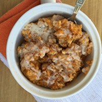 Pumpkin Cinnamon Coffee Cake Oatmeal