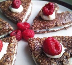 Vegan, plant-based, dairy-free, nut-free, egg-free, gluten-free, no-bake chocolate cookie hearts recipe, desserts, Valentine's Day, snack