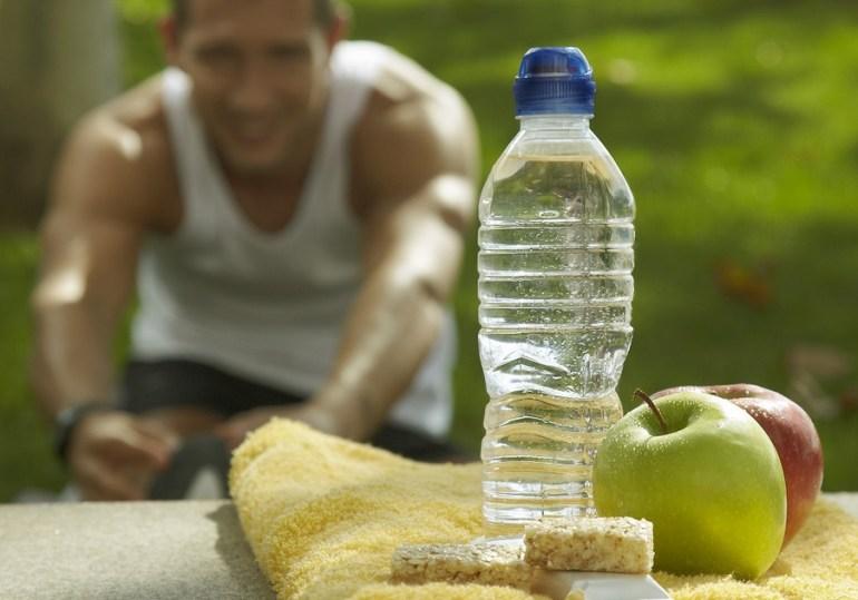bottle apples bread