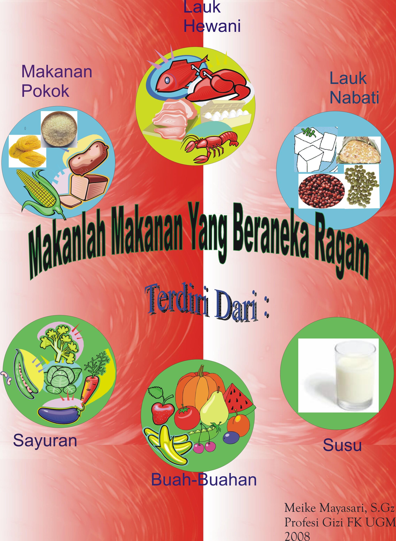 POSTER MAKANAN YANG BERANEKA RAGAM | Diet Sehat