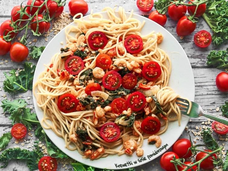 Krewetki w sosie pomidorowym 🍤  🍅