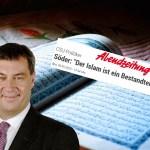 """Soviel zu Markus Söder (CSU): """"Islam gehört zu Bayern"""" und Koransuren auf dem Christkindlesmarkt (Video)"""