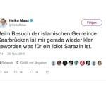 NetzDG: Heiko Maas beleidigt Thilo Sarrazin auf Twitter!