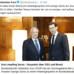 Österreichs Bundeskanzler Sebastian Kurz empfängt George Soros