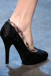 Dolce Gabbana black lace pumps