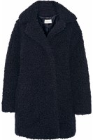 Sandro Faux Fur Coat Navy