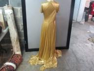Bottega Veneta Gold Gown full back