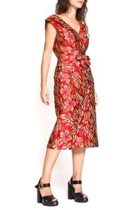 prada-red-gold-brocade-dress
