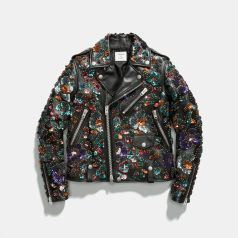Coach x Rodarte Moto Jacket with Leather Sequins, $3,500