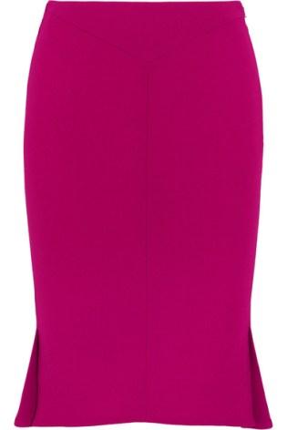 Roland Mourat Nash Wool Pink Skirt