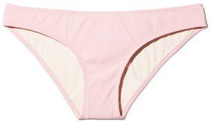 SOLID & STRIPED The Alice Petal Rib Bikini bottom pink
