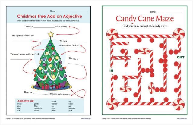 Christmas Worksheets 1