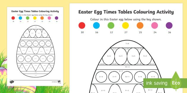 Free Easter Multiplication Worksheets
