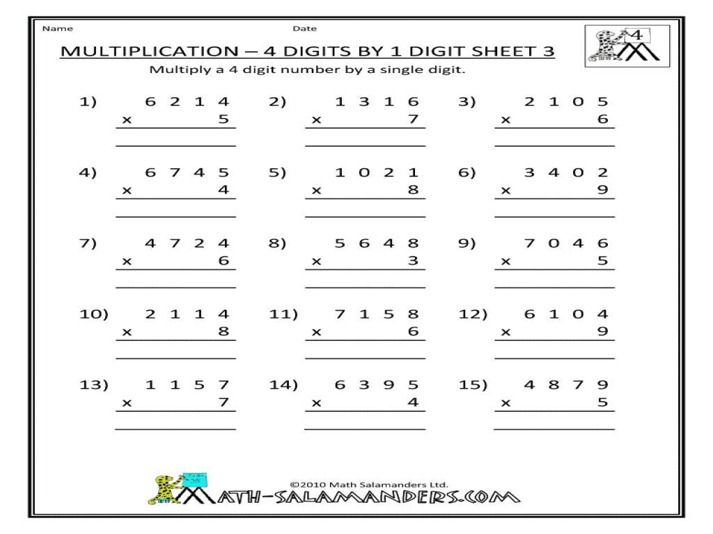 Math Worksheets Color By Number Multiplication