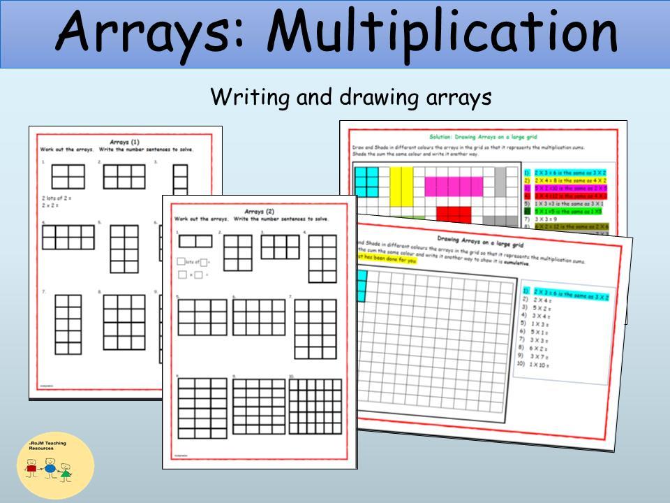 Multiplication Arrays Worksheets Grade 3 Pdf