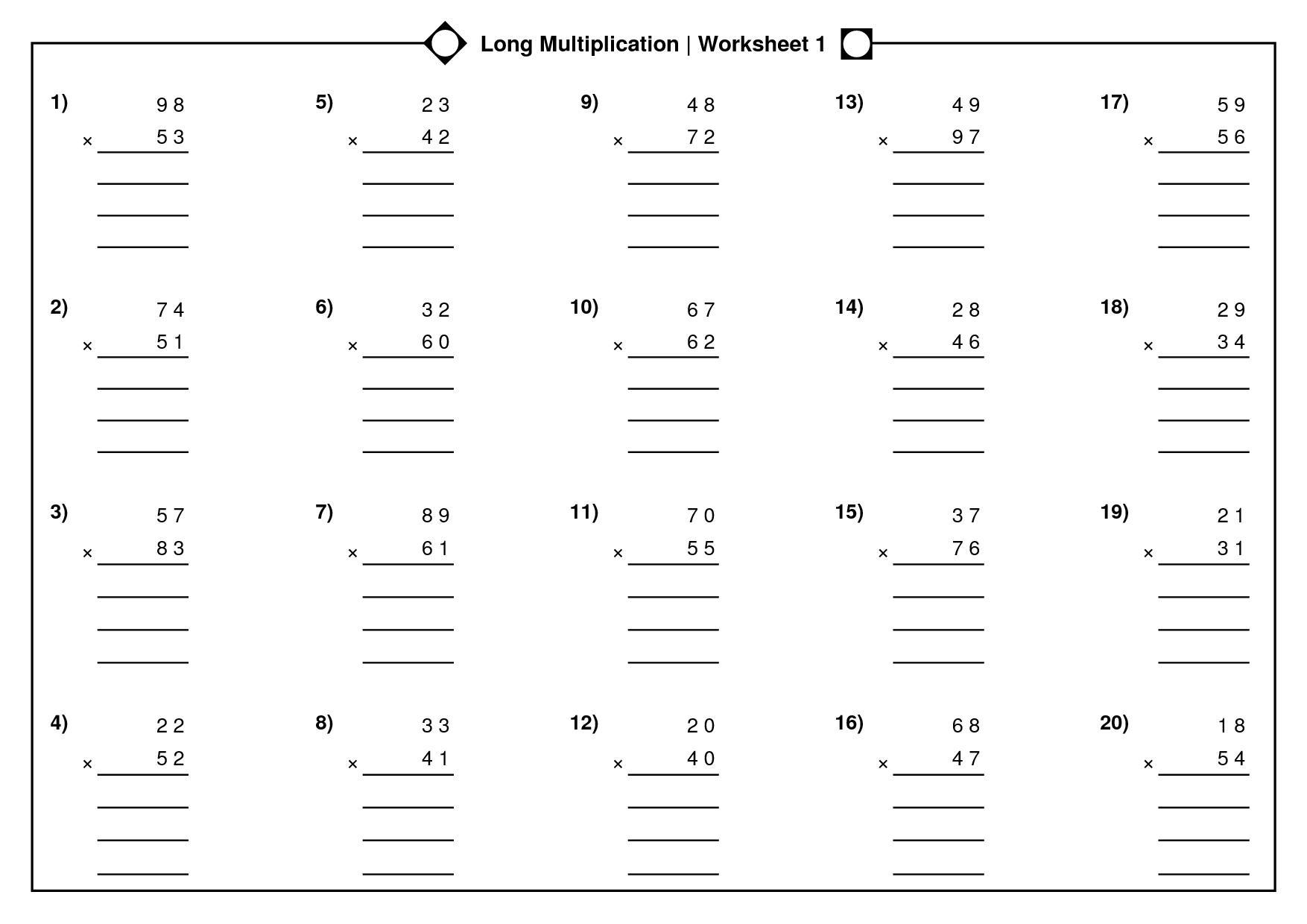 Multiplication Fraction Worksheets For Grade 5