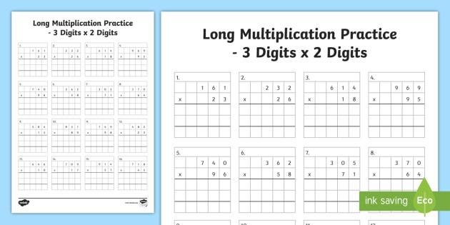 Multiplication Worksheet Examples 7