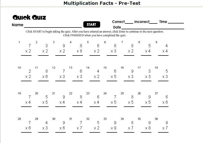 Multiplication Worksheets And Answer Key