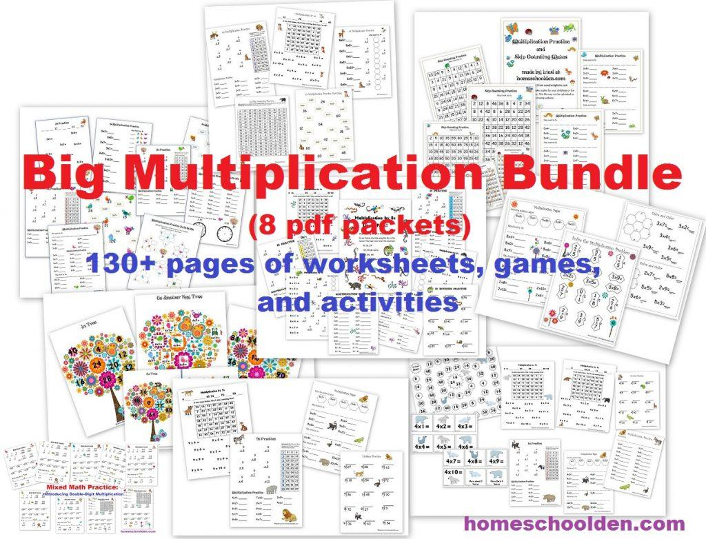 Multiplication Worksheets Big Numbers 4