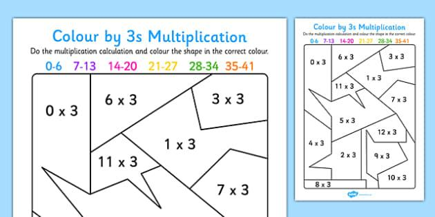 Multiplication Worksheets By 3 1