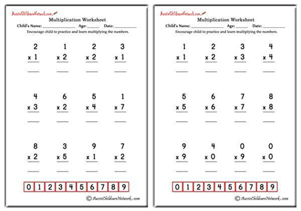 Multiplication Worksheets Easy