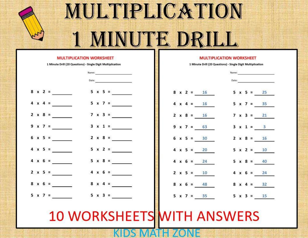 Multiplication Worksheets For Grade 2 With Pictures Pdf