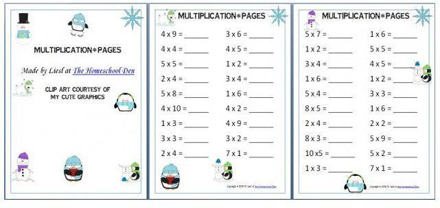 Multiplication Worksheets Homeschool 2
