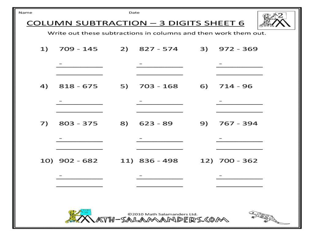 Multiplication Worksheets Horizontal 4