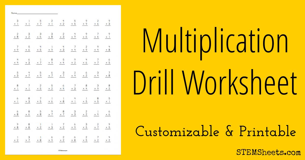 Multiplication Worksheets Word Doc