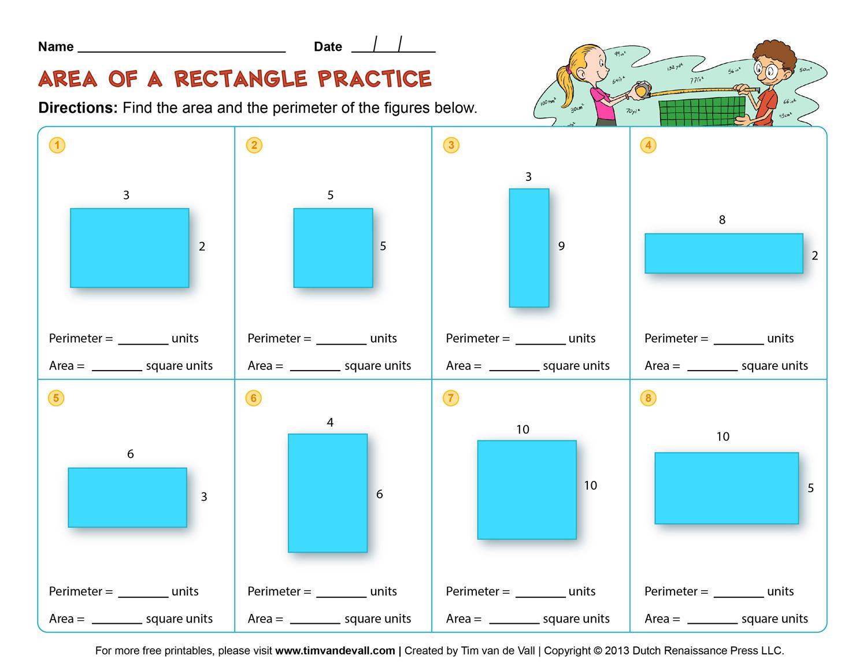 Perimeter Worksheets 6th Grade