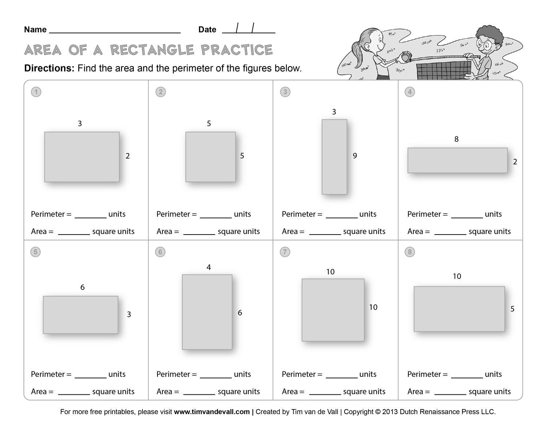 Perimeter Worksheets For 3rd Grade