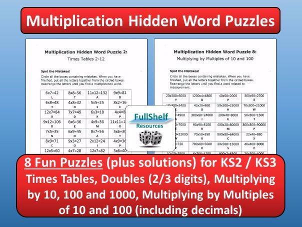 Free Printable Multiplication Worksheets Ks2