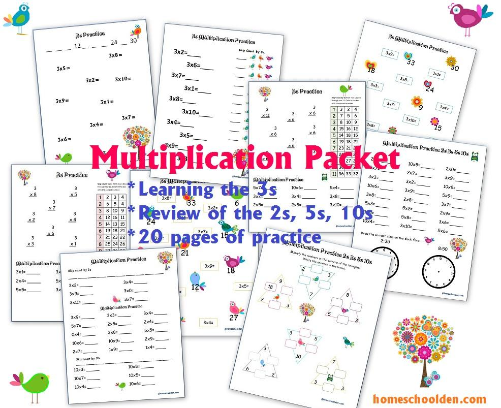 Learning Multiplication Tables Worksheets