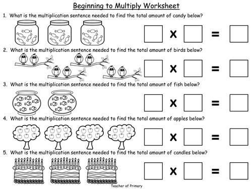 Multiplication As Repeated Addition Worksheets For Grade 1