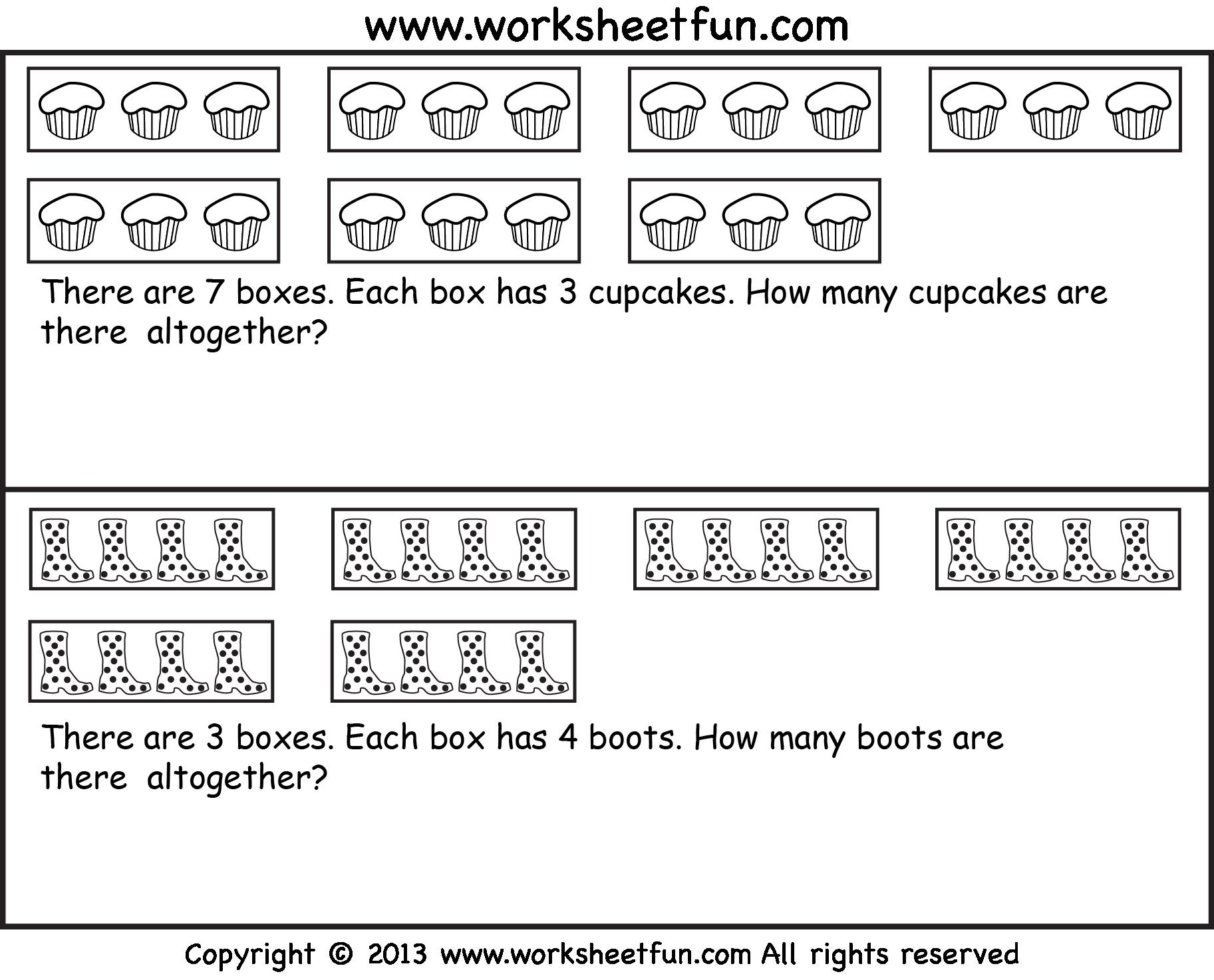 Multiplication As Repeated Addition Worksheets With Pictures