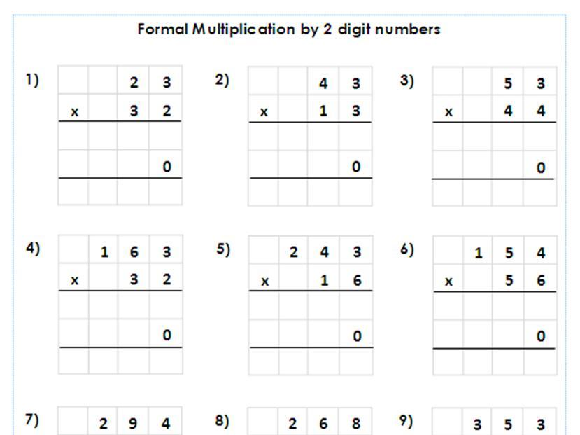 Multiplication Worksheets 2 Times Tables