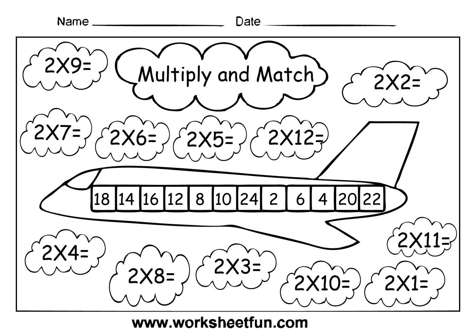 Multiplication Worksheets Level 1 3