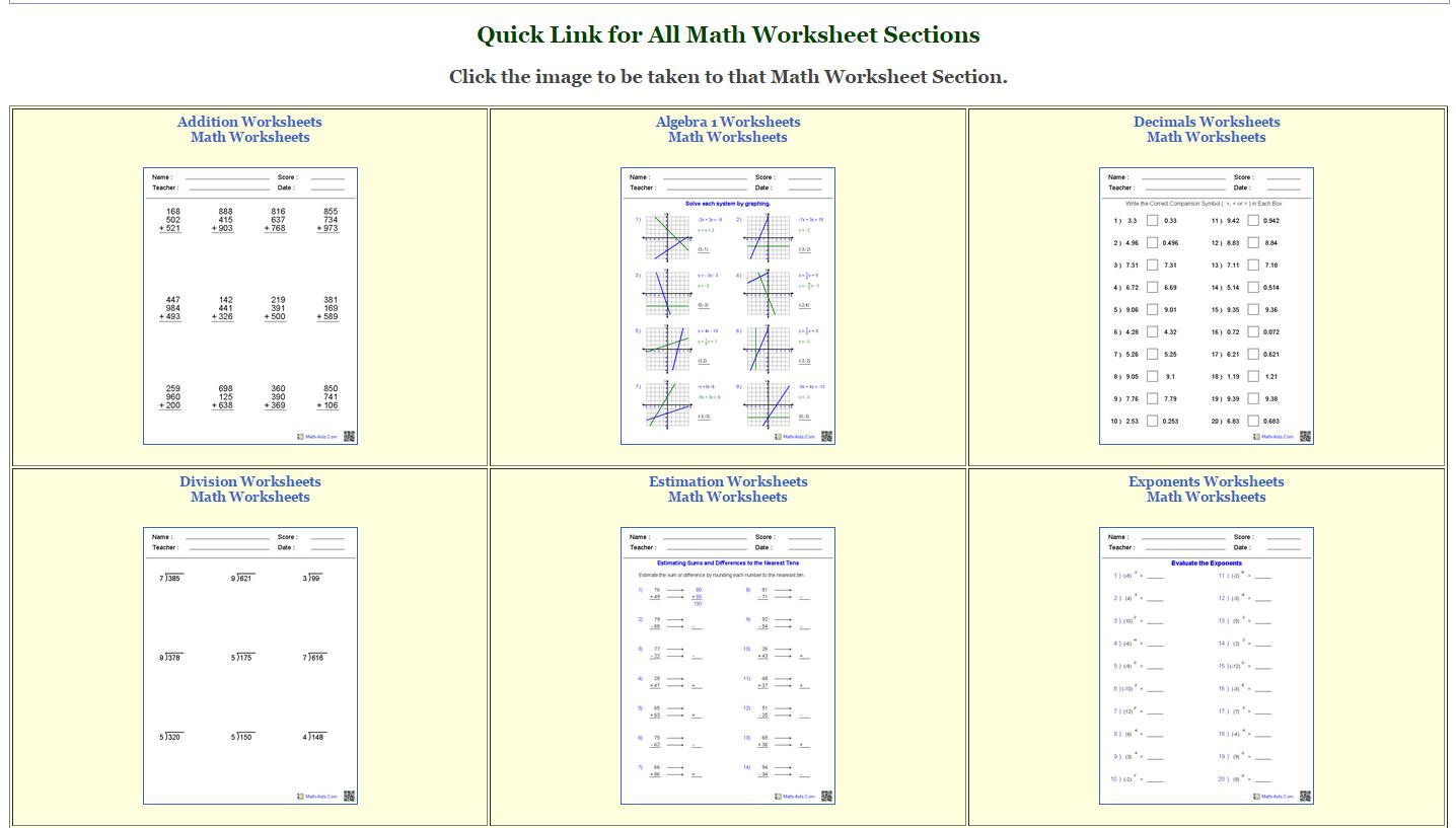 Multiplying Decimals Worksheets Math Aids