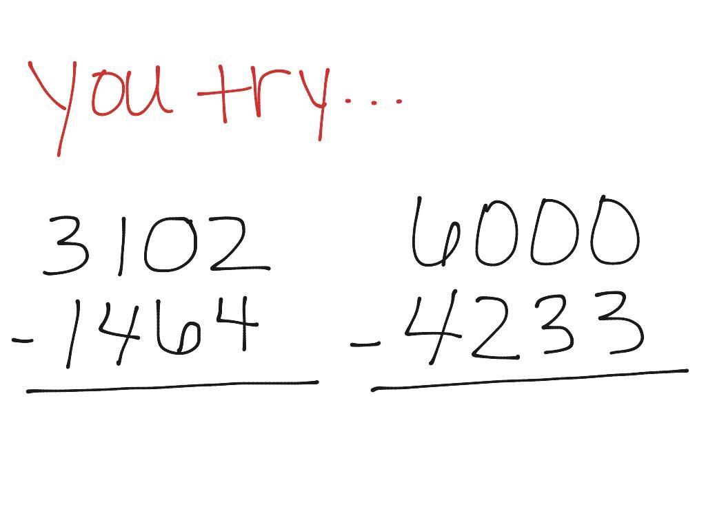 Multiplication Across Zeros Worksheets 6