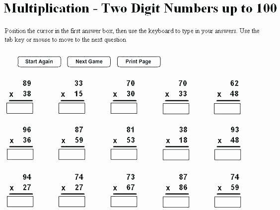 Multiplication Using Place Value Counters Worksheet