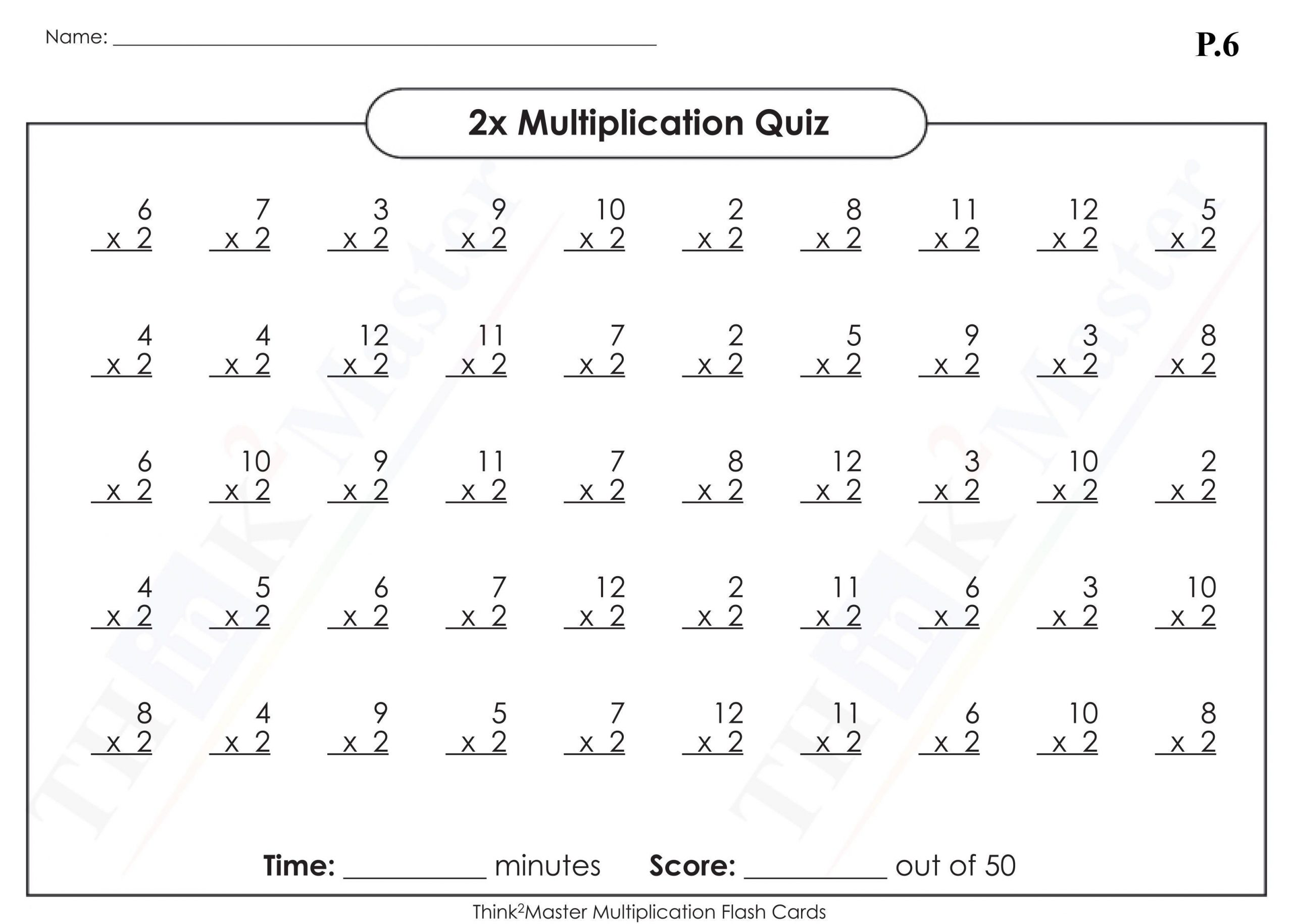 Multiplication Vertical Worksheets Answer Key 7